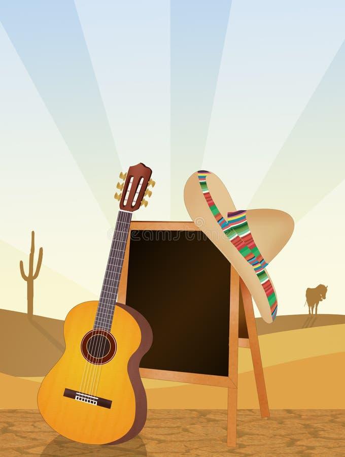 Objetos mexicanos tradicionais ilustração do vetor