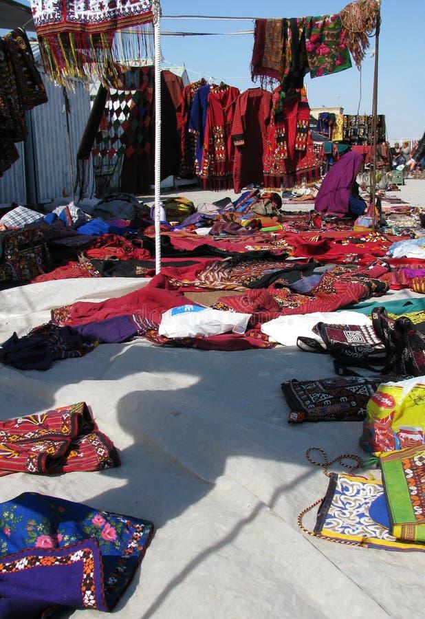 Objetos orientais do bazar - cena de compra fotos de stock