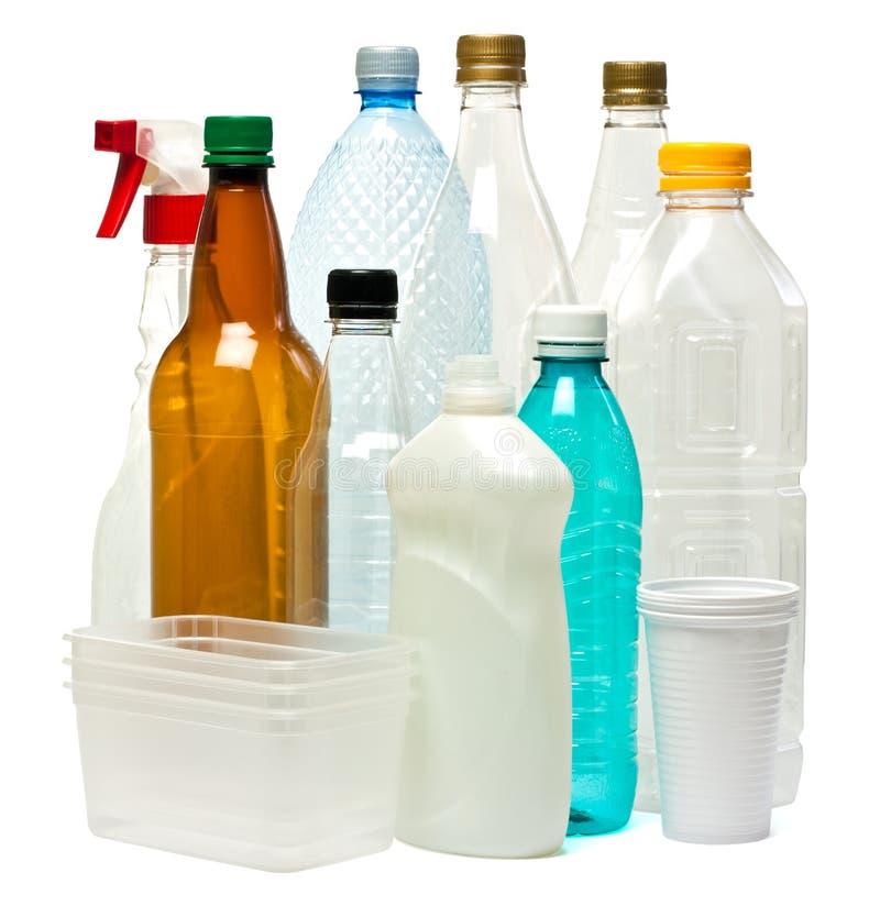Objetos Plásticos Fotografia de Stock