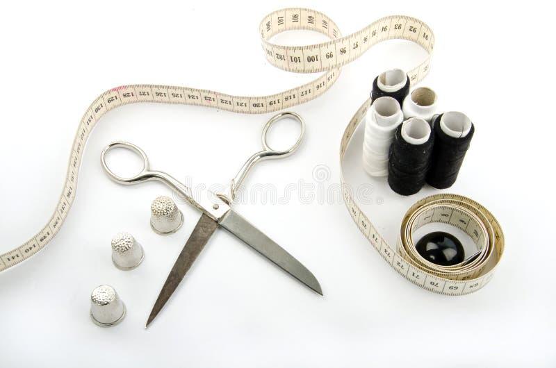 Objetos Sewing imagem de stock