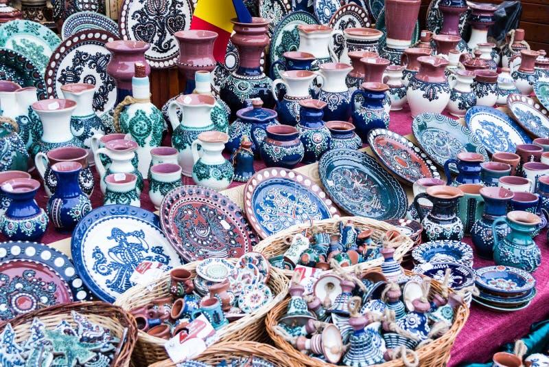 Objetos tradicionais cerâmicos foto de stock