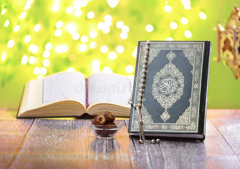 Objetos tradicionais da religião do Islã, Ramadan Concept fotografia de stock