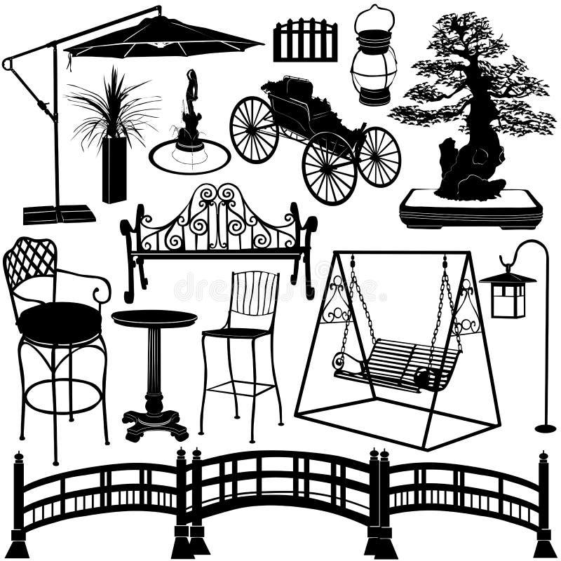 Objets 2 de jardin illustration de vecteur