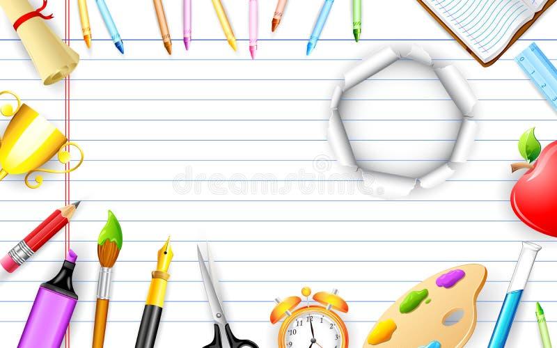 Objets d'éducation illustration libre de droits