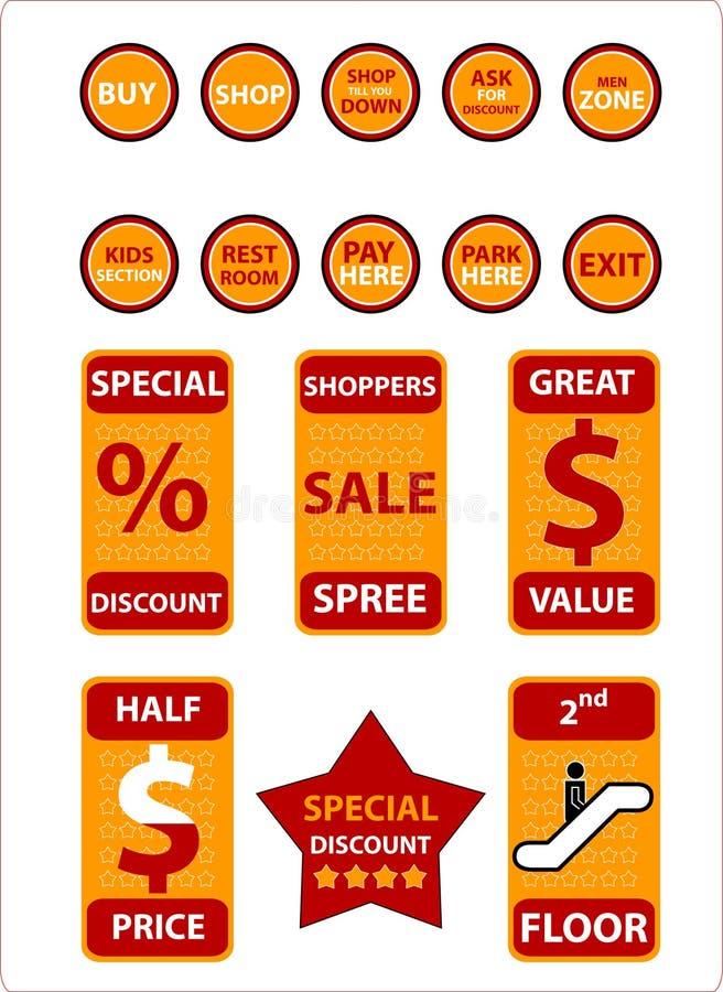 Objets d'achats - (contrôle à l'extérieur mon portefeuille pour les graphismes semblables !) illustration libre de droits