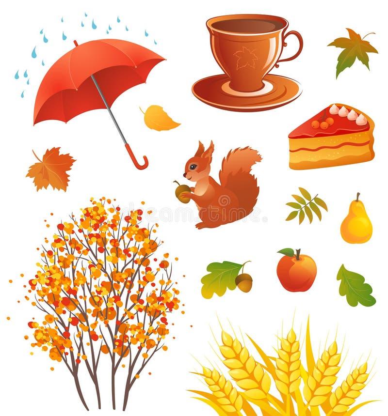 Objets d'automne illustration libre de droits