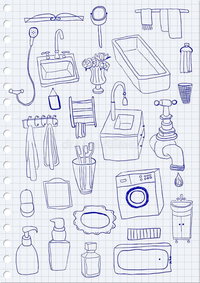 objets de salle de bains image stock image 34077291