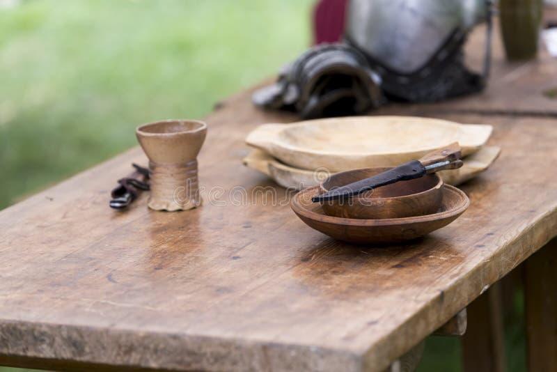 Objets médiévaux photo libre de droits