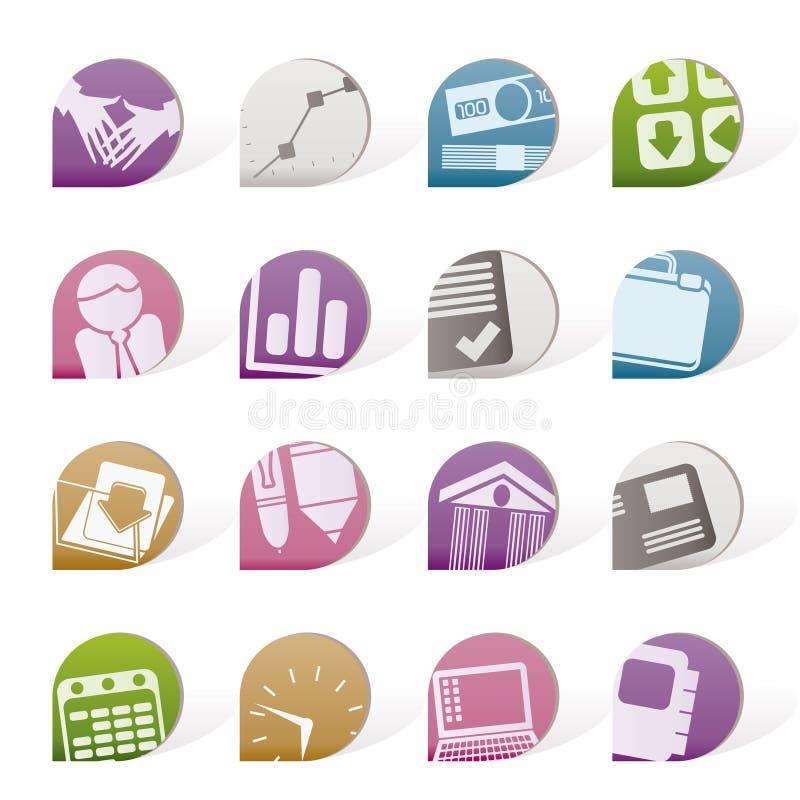 Objets simples d'affaires et de bureau illustration de vecteur
