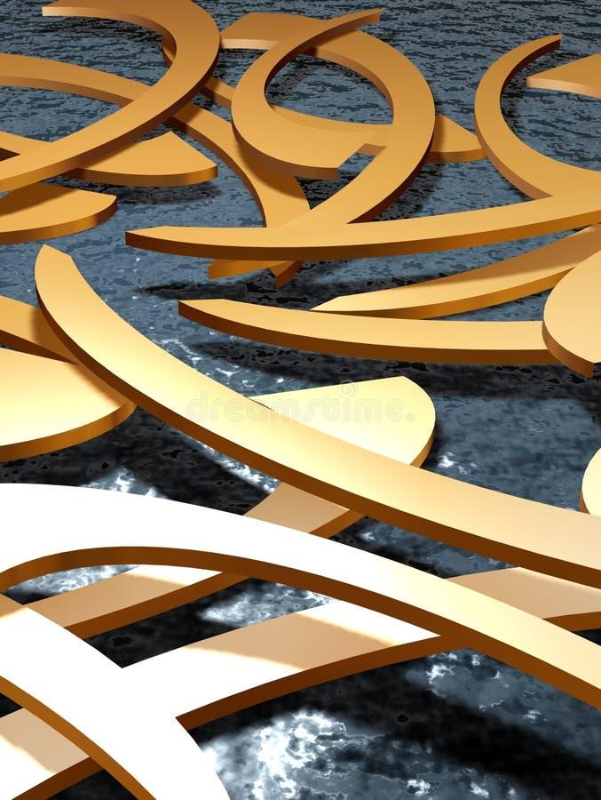 Objets sur l'eau 3 illustration de vecteur
