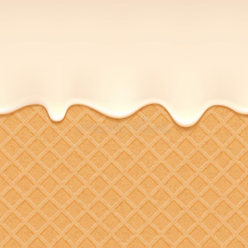 Oblate und flüssige Creme - Vektorhintergrund stock abbildung