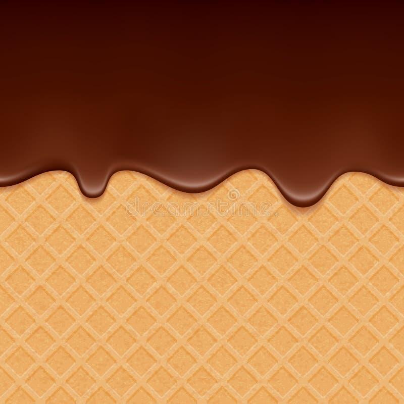Oblate und flüssige Schokolade - Vektorhintergrund vektor abbildung