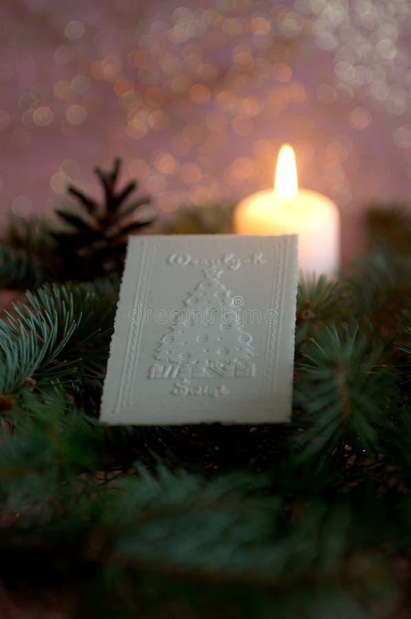 Oblea de la Navidad foto de archivo