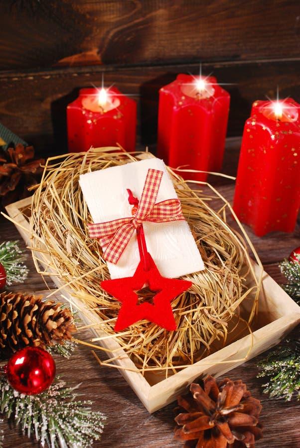 Oblea de la Nochebuena fotos de archivo