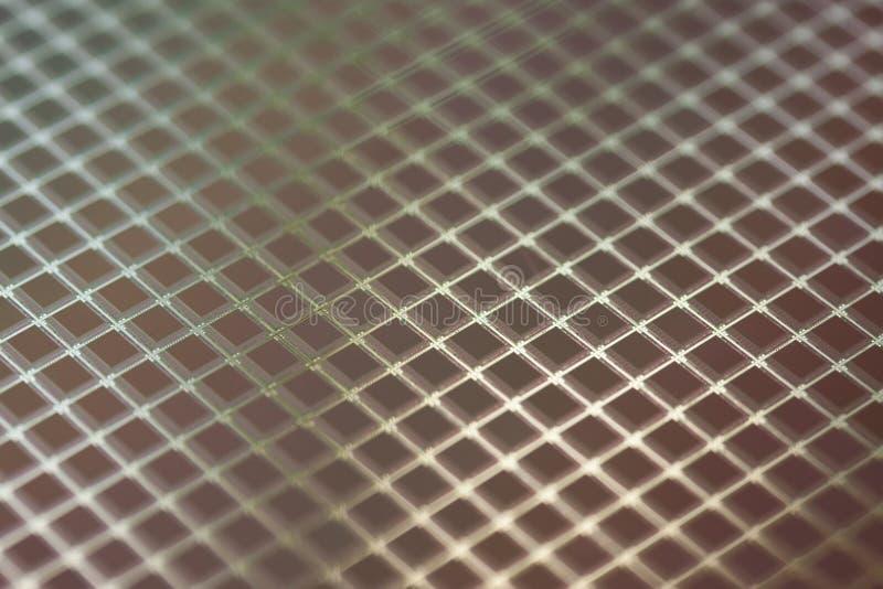 Oblea de los ICs del silicio fotografía de archivo libre de regalías