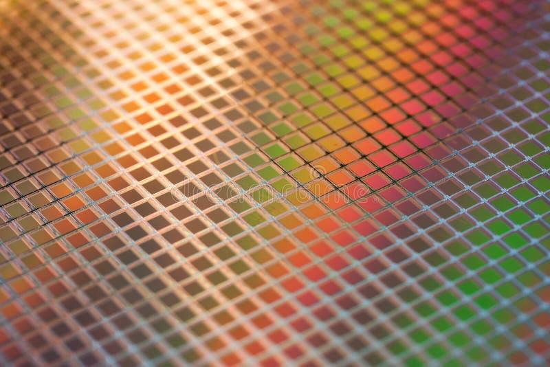 Oblea de los ICs del silicio imagen de archivo libre de regalías