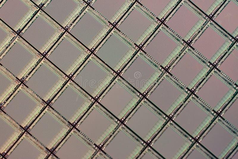 Oblea de los ICs del silicio foto de archivo