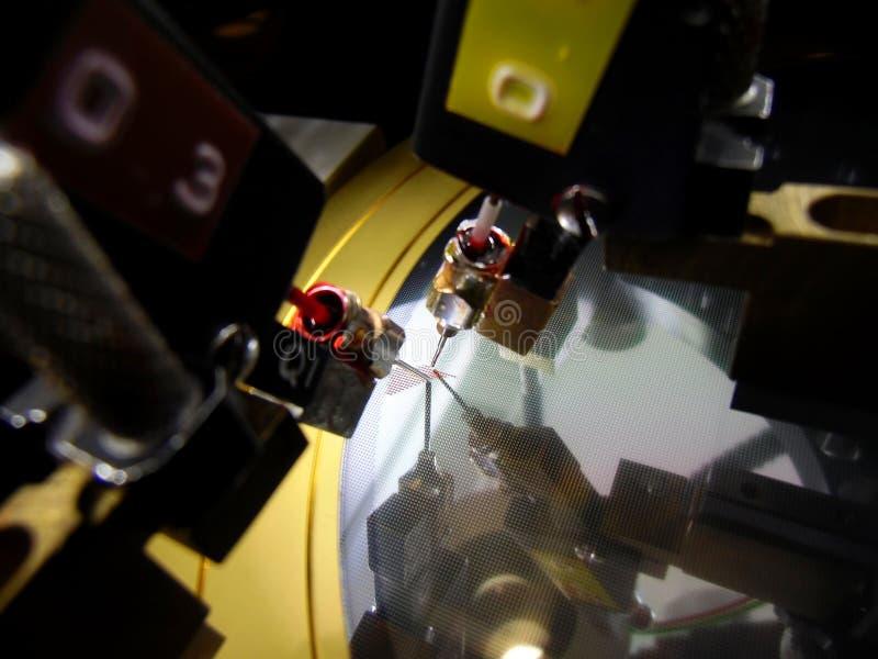 Oblea de silicio en la estación de la tinta foto de archivo