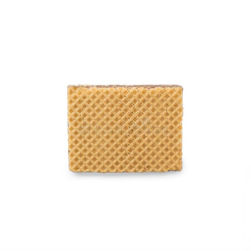 Obleas con el chocolate en un fondo blanco imagen de archivo libre de regalías