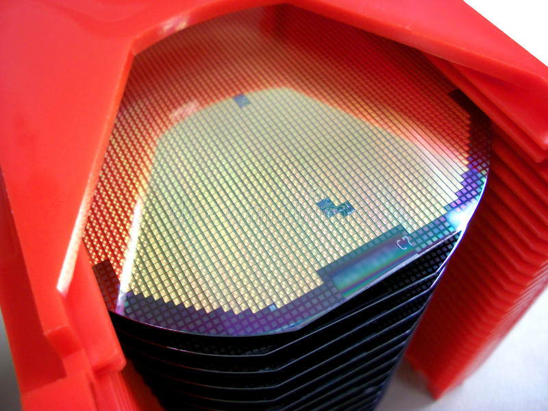 Obleas del silicón fotos de archivo