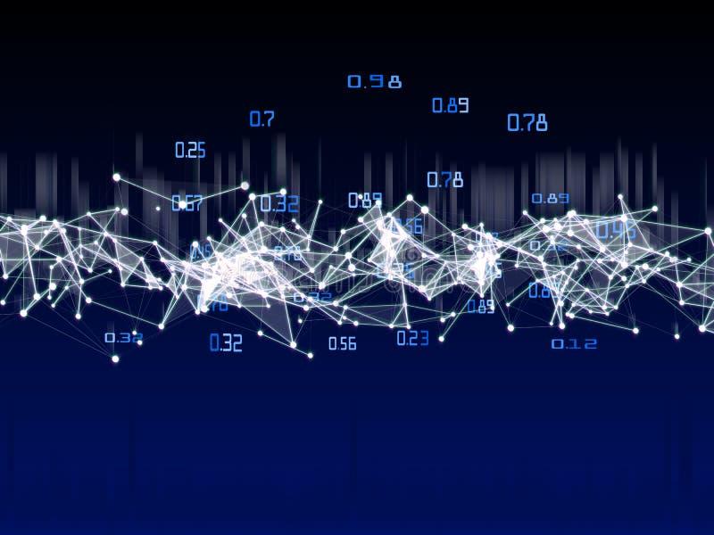Obliczać algorytmu sztuczny infographic Duża dane polygonaly kryptografia ilustracja wektor