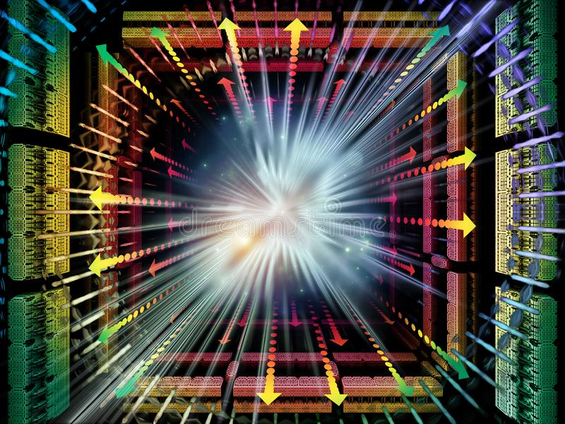 Obliczać kwant przestrzeń ilustracji