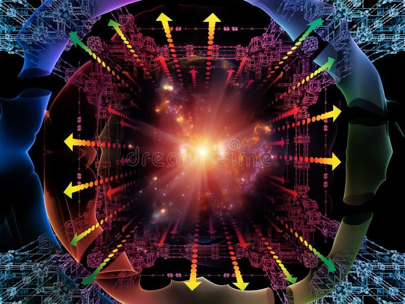 Obliczać kwant przestrzeń ilustracja wektor