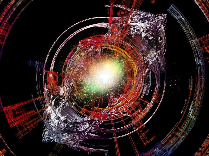 Obliczać Promieniowych promienie ilustracji
