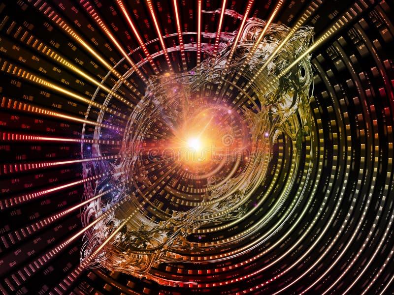 Obliczać Promieniowych promienie ilustracja wektor