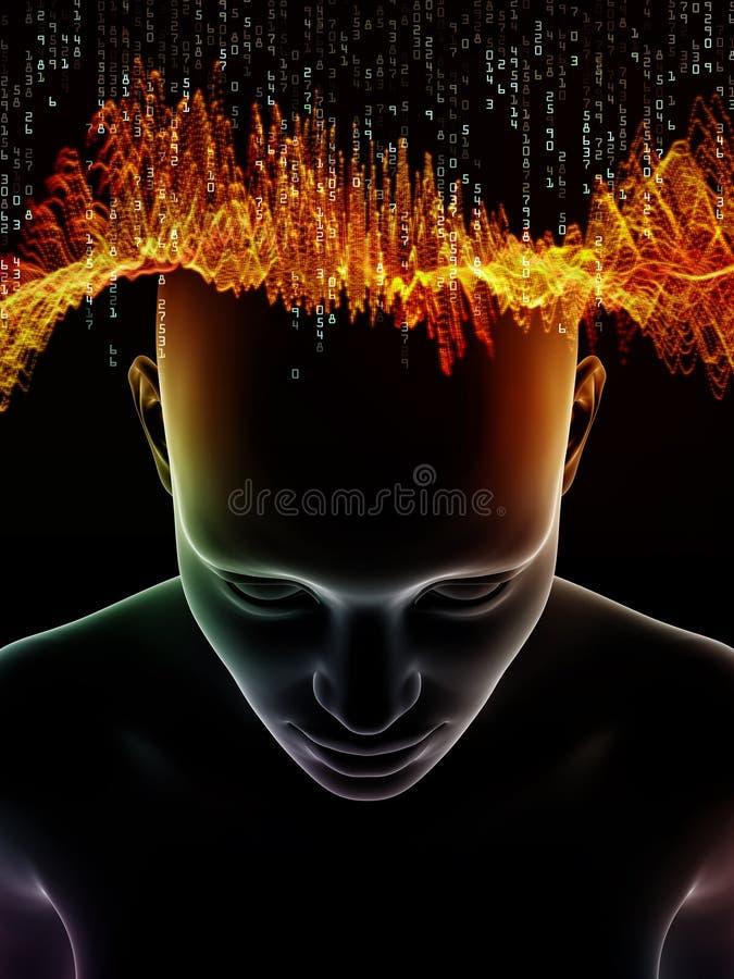 Oblicza? ludzkiego umys? ilustracji
