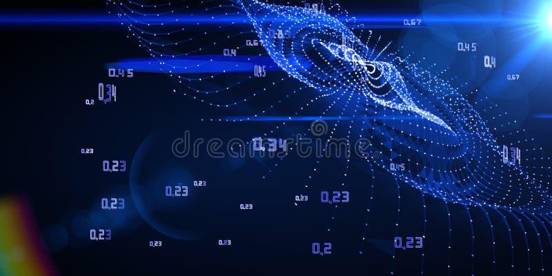 Obliczający algorytm sztuczną kryptografię infographic Du?y dane unaocznienie zdjęcie stock