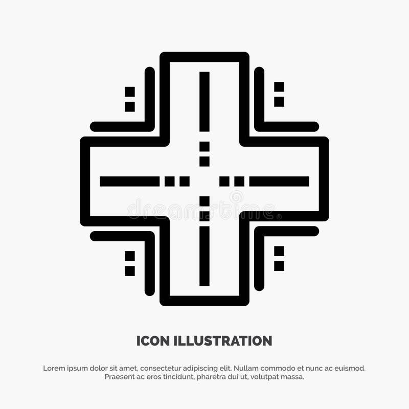 Obliczający, baza danych, Datacenter, komputer mainframe, serweru wektoru linii ikona ilustracji