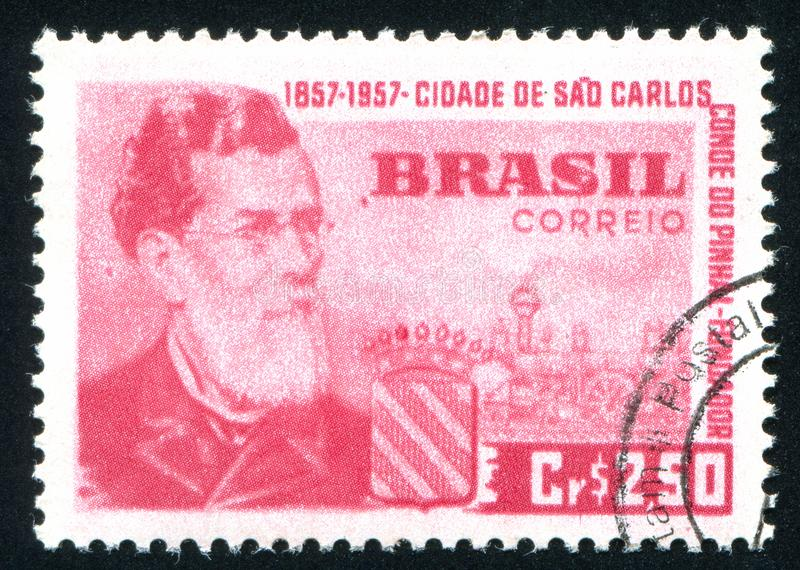 Obliczenie Pinhal Carlos i Sao zdjęcia stock