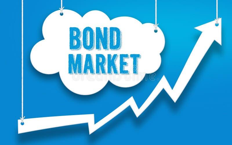 Obligationsmarknadinvesteringbegrepp royaltyfri illustrationer