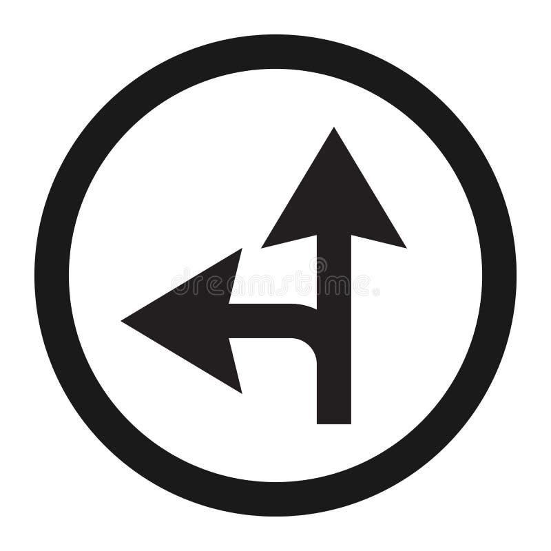 Obligatoire en avant ou ligne gauche icône de signe illustration libre de droits