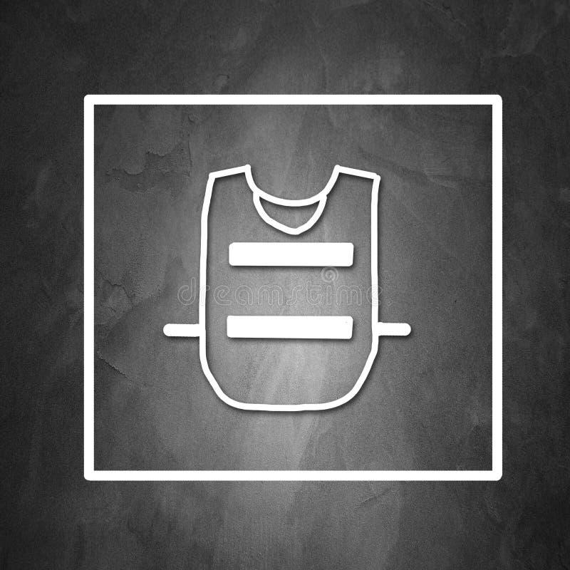 Obligatoriskt kläderskydd royaltyfri illustrationer
