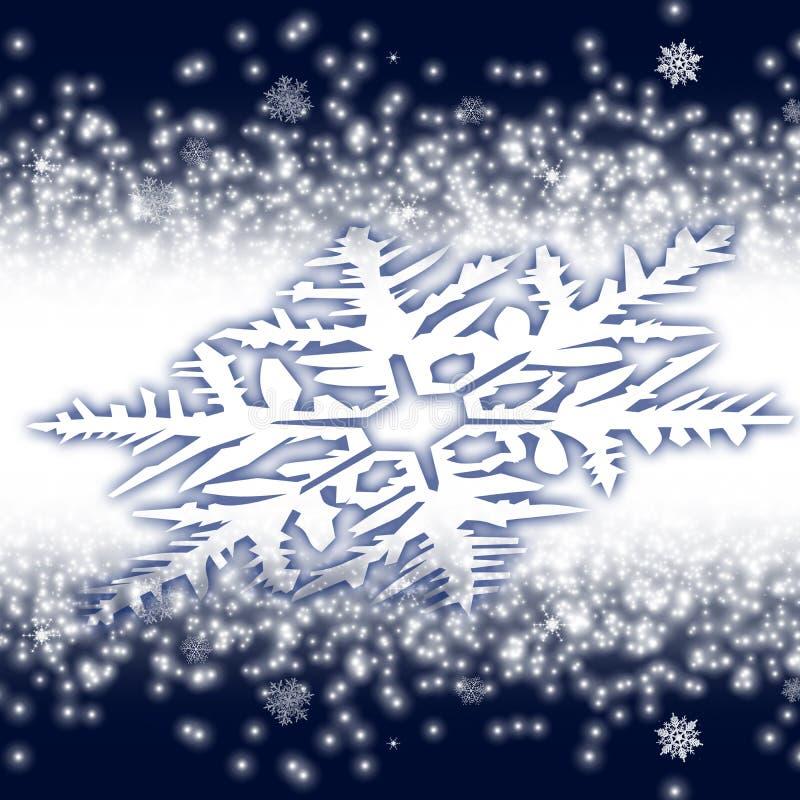 Obliquamente floco de neve grande ilustração stock