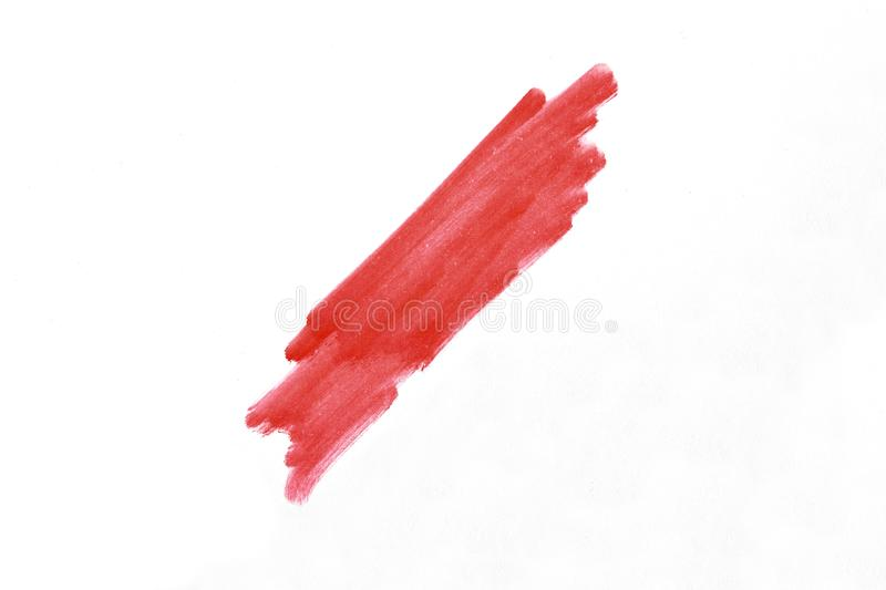 Oblique stripe with a marker over white background royalty free stock photography