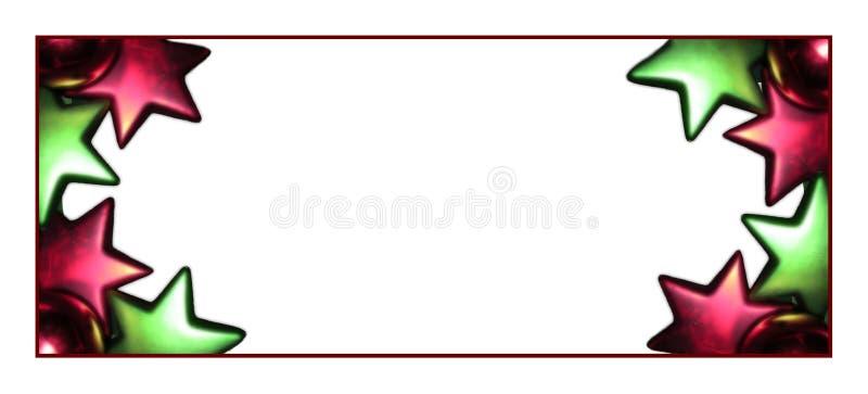 Download Oblong christmas frame. stock illustration. Image of background - 763316