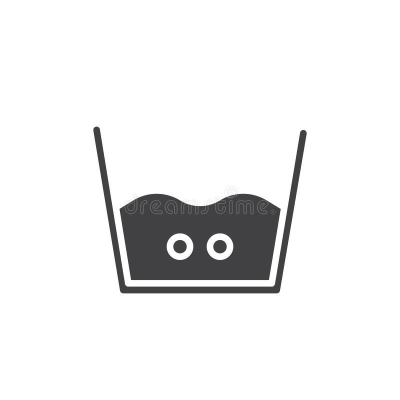 Obmycie ikony ciepły wektor royalty ilustracja