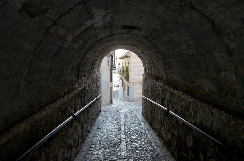 Obniża kroka Toledo, tunel zdjęcia stock