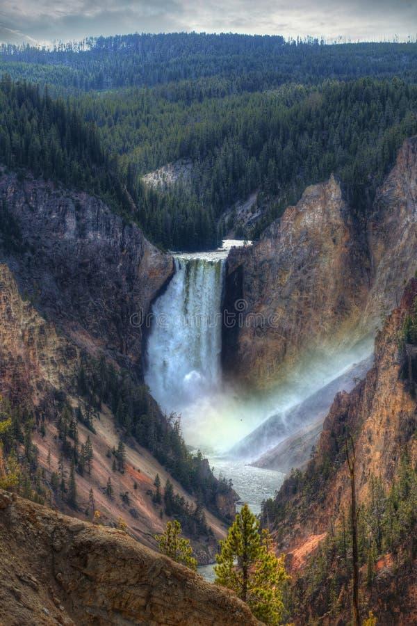 Obniża spadki przy Yellowstone zdjęcie royalty free