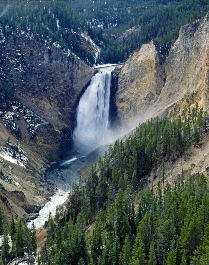 Obniża spadki, Yellowstone park narodowy zdjęcie stock