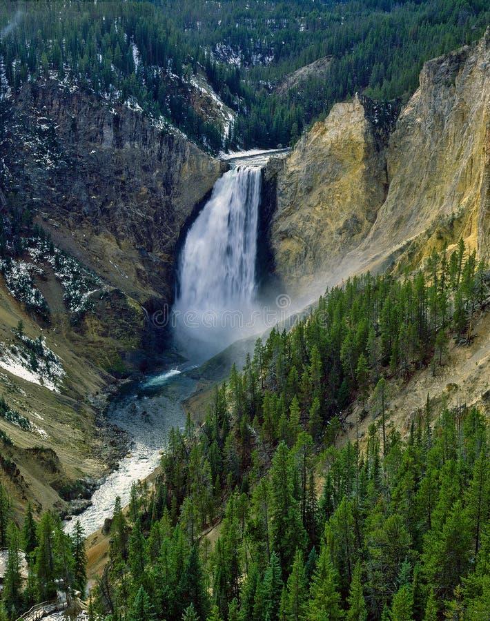 Obniża spadki, Yellowstone park narodowy obrazy stock