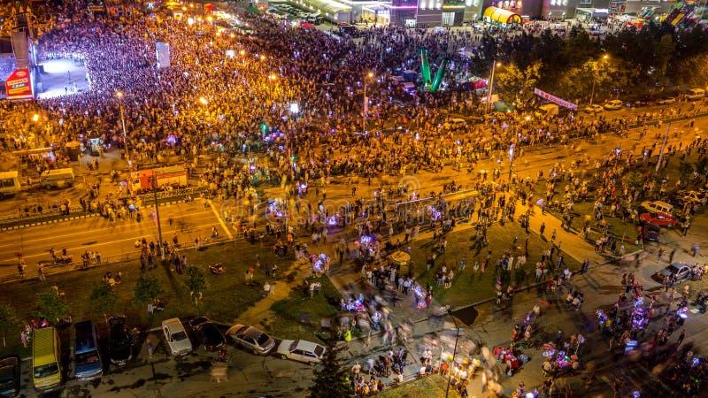 Obninsk, Ρωσία - τον Ιούλιο του 2018: Εορτασμός της ημέρας της πόλης στοκ εικόνα
