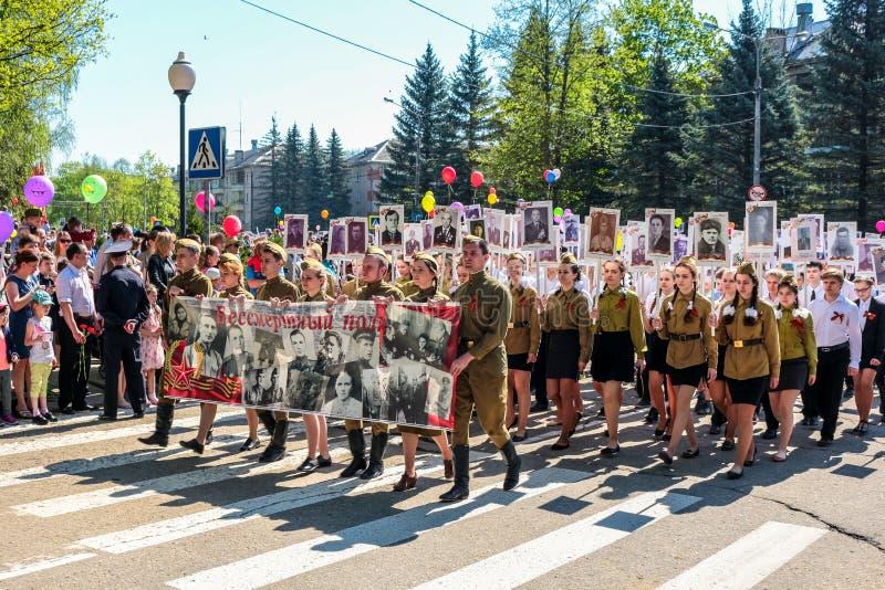 Obninsk Rosja, Maj, - 9, 2016: Świętowanie zwycięstwo dzień, Wielka Patriotyczna wojna 1941-1945 obrazy royalty free