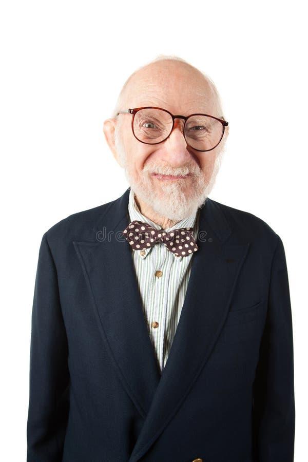 obnoxious pensionär för man royaltyfria bilder