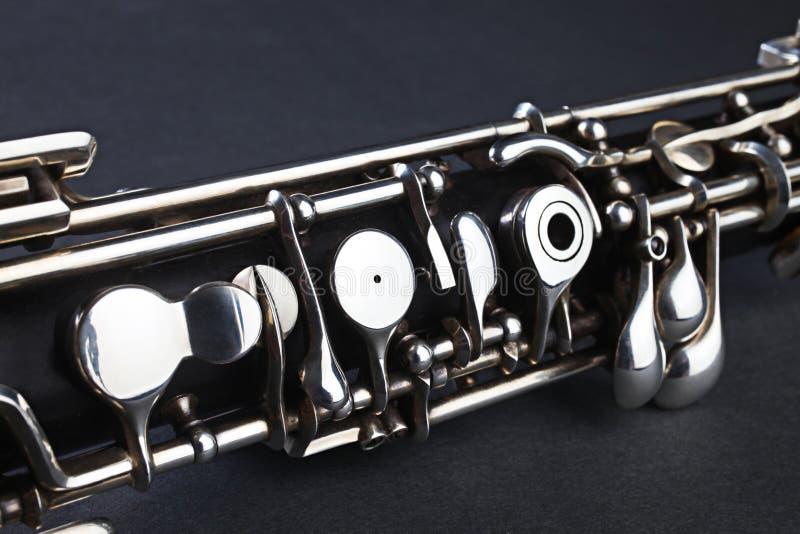 oboe för detaljinstrumentmusikal arkivbilder