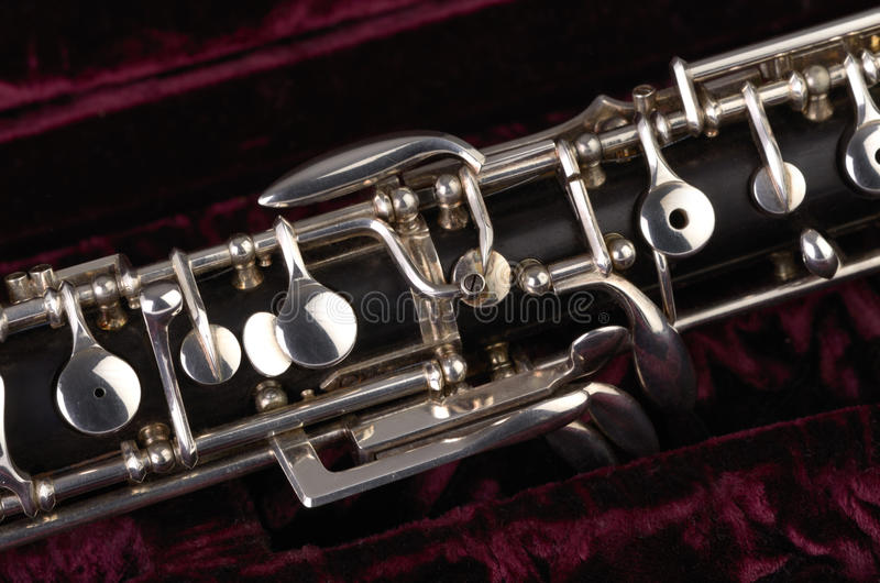 Oboe med fallet royaltyfri bild