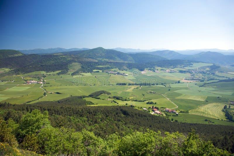 Obok Pamplona zielona dolina obraz stock